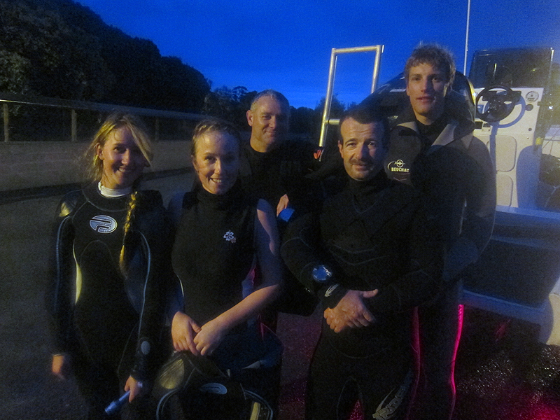 Night dive at Wellington Reef