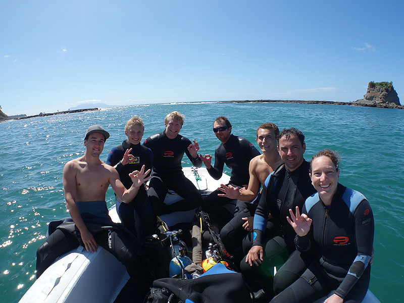 Certified divers at Mathessons Bay
