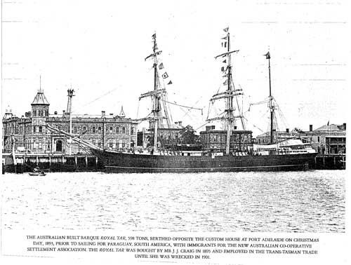 Royal Tar - sank 1901 at Shearer Rock