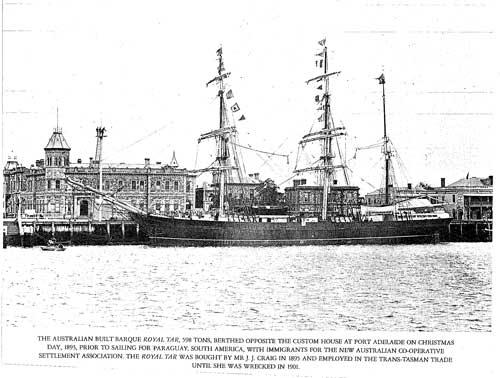 Royal Tar - sank 1901 at Shearer Rock