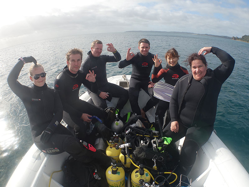 Lisa, Logan, Doyle, Matt, Beeli and Cara at Daniels Reef