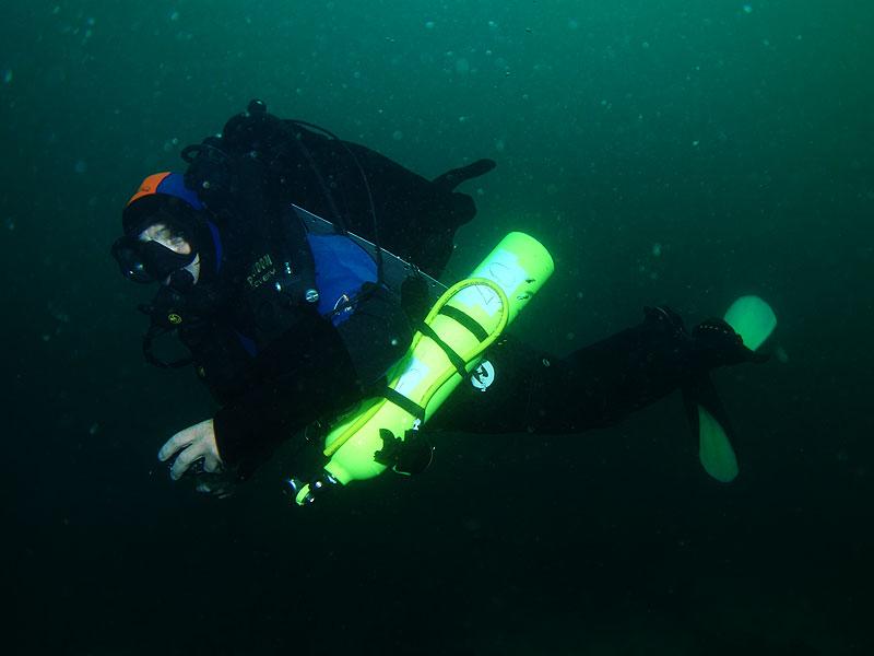 Dave Abbott on teh Poseidon MKVI Rebreather