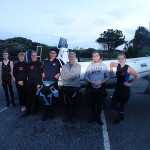 Nick, Andrea, Martin, Lachie, Mark, Jacob and Kate at Army Bay.