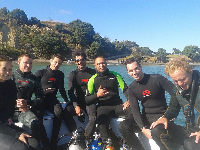 Qualified divers at Army Bay.