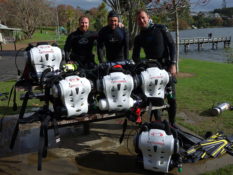 Hollis Explorer Rebreathers.