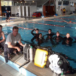 Tony, Grant, Beeli, Chen, Andrew, Andrea, Martin and Mike set to try rebreathers !