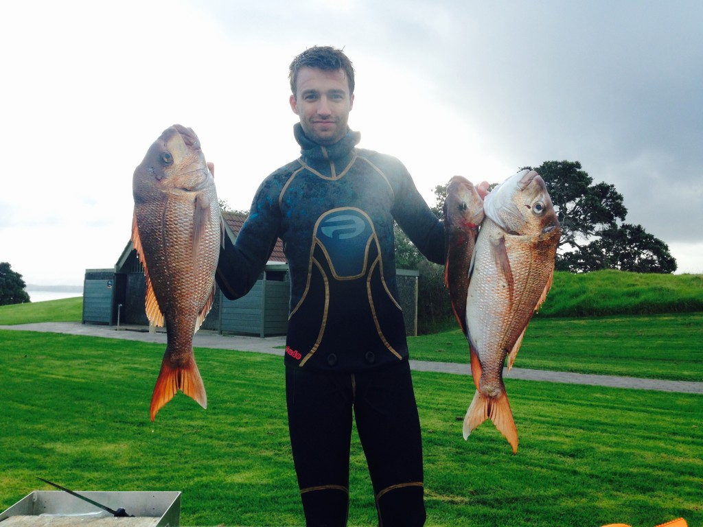 A couple of excellent specimen with a smaller 'pan' size fish made for excellent eating!