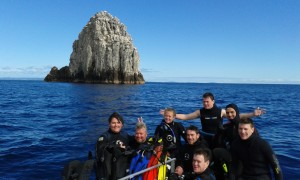 The crew after a dive at Sugarloaf.