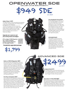 Oceanic Scuba Diving Package Deals