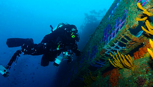 scuba diving the Canterbury Wreck