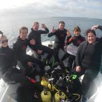 Lisa, Logan, Doyle, Matt, Beeli and Cara at Daniels Reef
