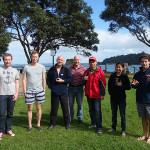 Andrew, Chris , Peter, Mike, Xinming, Beeli and Aaron at Mathessons Bay