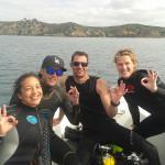 Aysha, Craig, Dan and Nicole at Tiri Tiri Island.