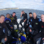 Andrew, Charindra, David, Tony, Charles, John and Phillip at Wellington Reef.