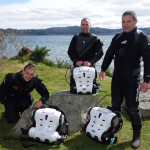 Mark, Tomo and Dave complete Hollis Explorer Rebreather Course in Taupo.