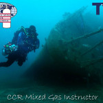 Bob Thompson diving the Waikato Wreck
