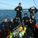 Happy divers onboard at the Outpost